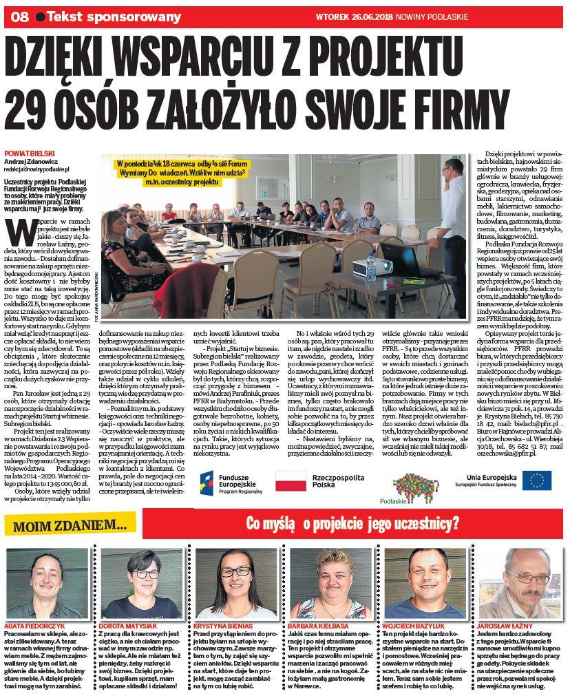 Artykuł Nowiny Podlaskie